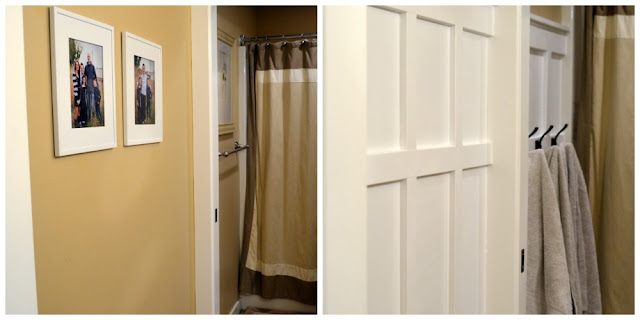 side by side of bathroom with and without board and batten