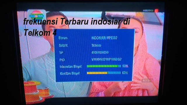 Frekuensi INDOSIAR  terbaru di Satelit Telkom 4