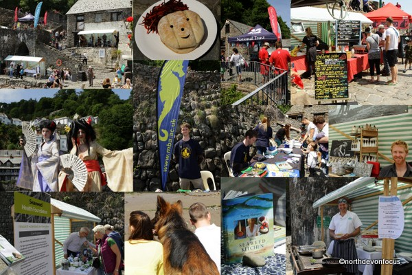 Clovelly Seaweed Festival. Montage copyright Pat Adams North Devon Focus