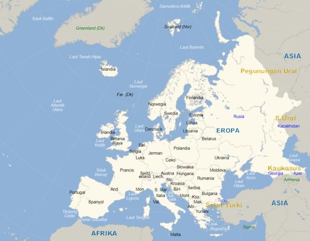 peta batas benua asia dan eropa