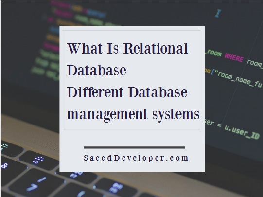 What Is Relational Database