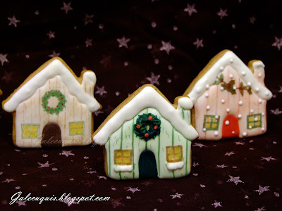 casitas de navidad galletas de glasa
