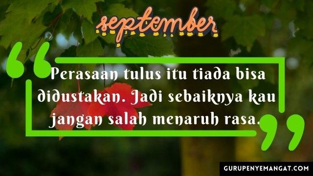 Qoutes Bijak Bulan September untuk Caption Medsos