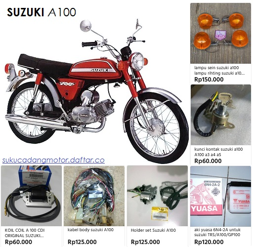 Suzuki A 100 parts