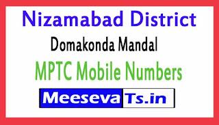 Domakonda Mandal MPTC Mobile Numbers List Nizamabad District in Telangana State