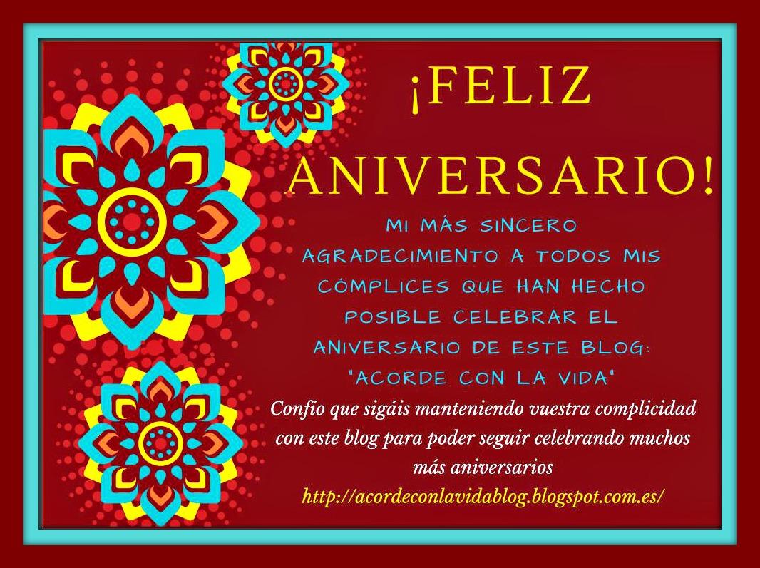 Feliz Aniversario De Casados: Acorde Con La Vida: ¡FELIZ ANIVERSARIO