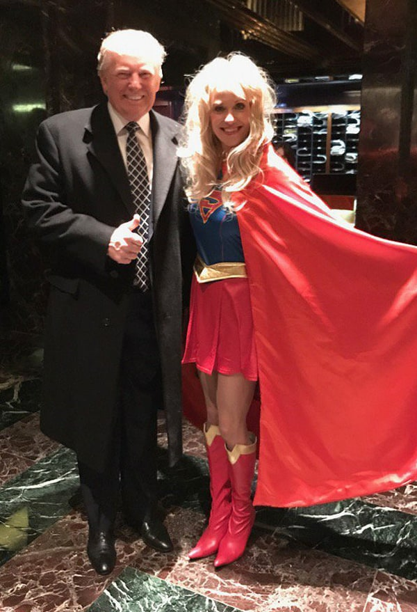Kellyanne Conway and Trump costume party