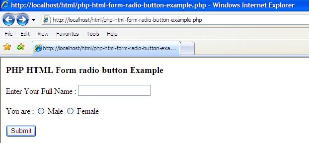 Script Php Radio Button