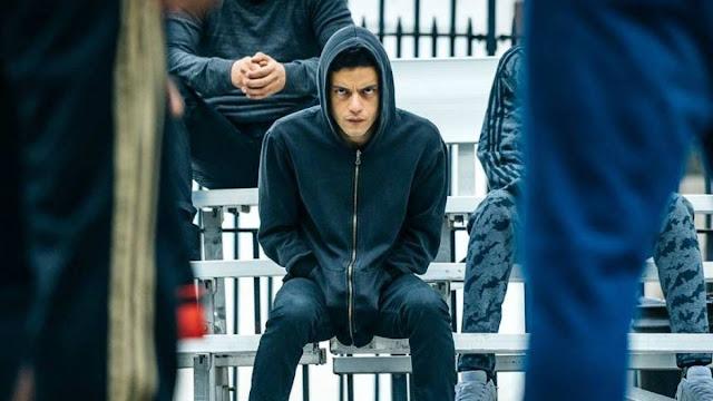 """Rami Malek em cena da série """"Mr. Robot"""" - Créditos: USA Network"""
