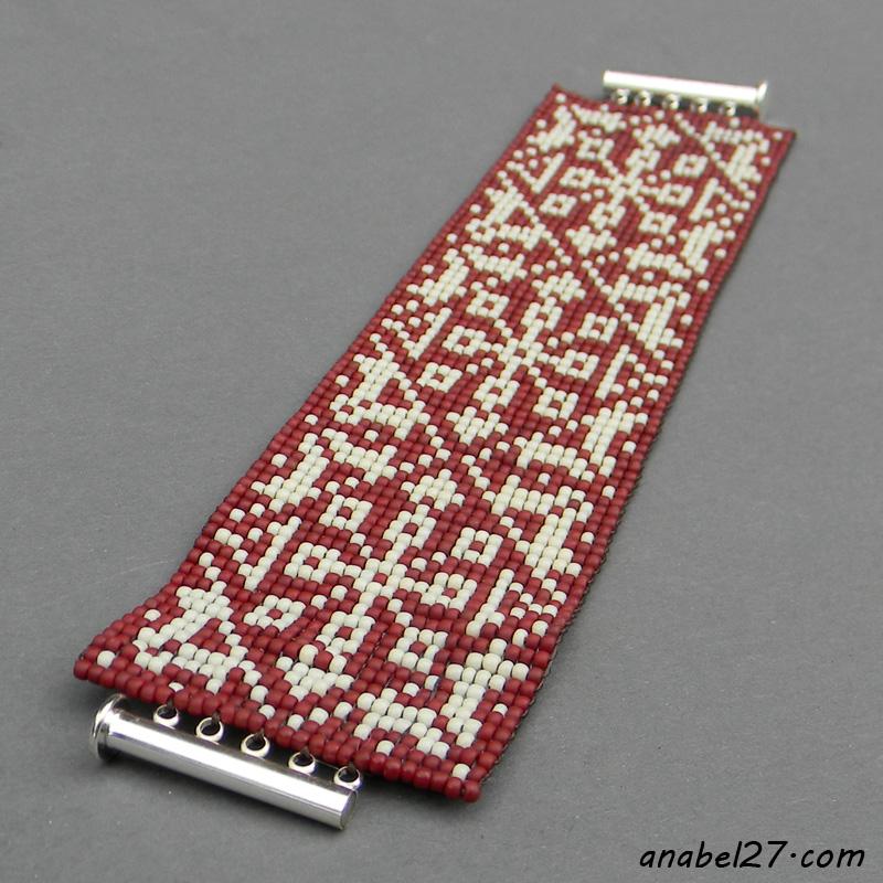 купить широкий браслет из бисера украина