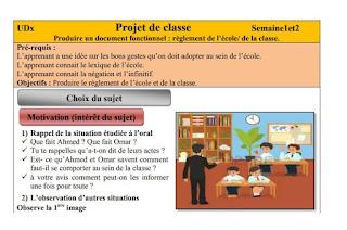 Modèle de projet de classe ( méthodologie et déroulement )