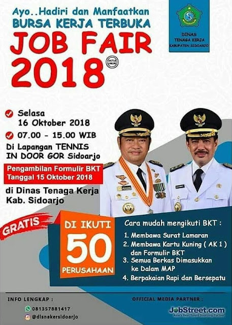 Job Fair GOR Sidoarjo Oktober 2018