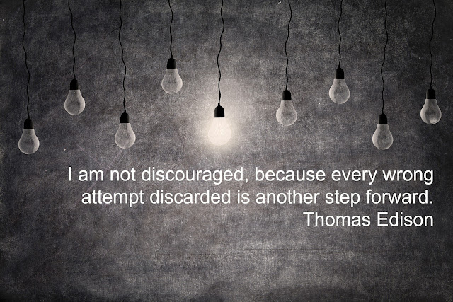 I am not discouraged, because every wrong attempt discarded is another step forward. - Thomas Edison