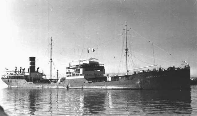British tanker British Prestige, which rescued sailors on 6 February 1942, worldwartwo.filminspector.com