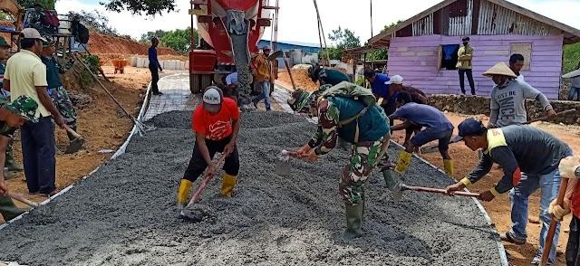 Tim TMMD Kodim 0316/Batam Terus Lakukan Pembangunan Infrastruktur Jalan