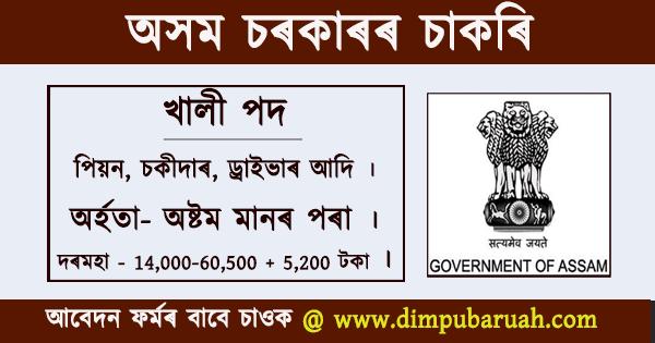Assam Govt Jobs 2020