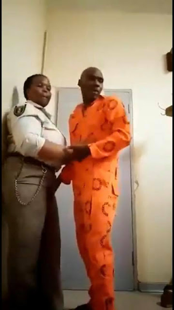 Female prison warder caught having unprotected s*x with male inmate in office (pictures)