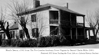 C1941 photo, 'Mead's Tavern,' from The New London Academy, Forest Virginia by Samuel Clarke Miller (1941). Retrieved 2021 from Trailing the Past, Life as a Liberty History Student.