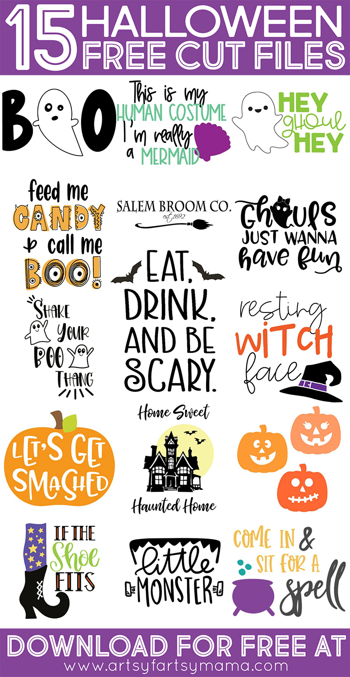 15 Free Halloween Cut Files #TotallyFreeSVG