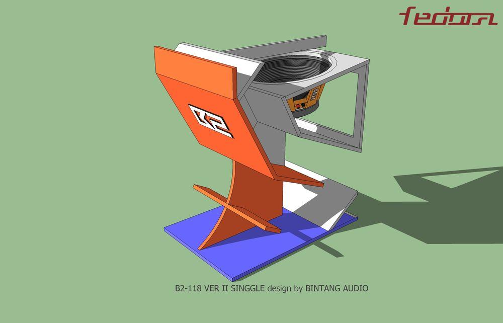 Skema dalam Folded Horn Subwoofer Skema Box