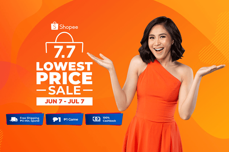 Shopee's Lowest Price Sale on July 7 will offer up to 90 percent off!