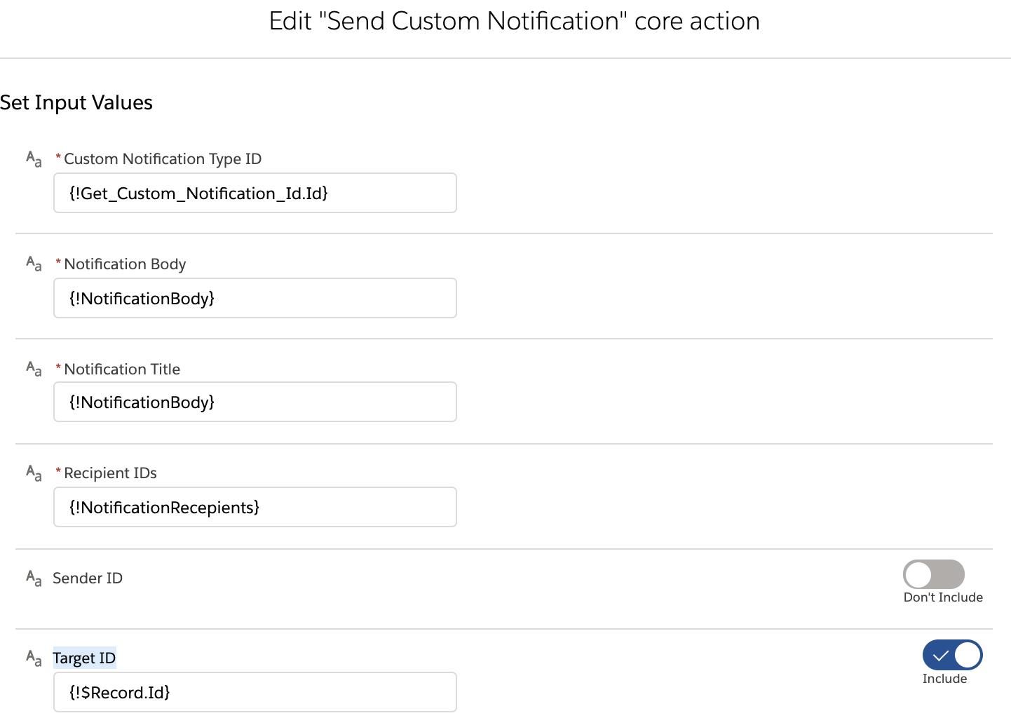 Salesforce Flow Custom Notifications