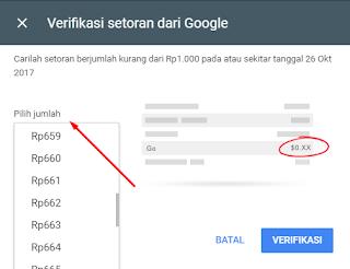 Cara Verifikasi Setoran dari Google