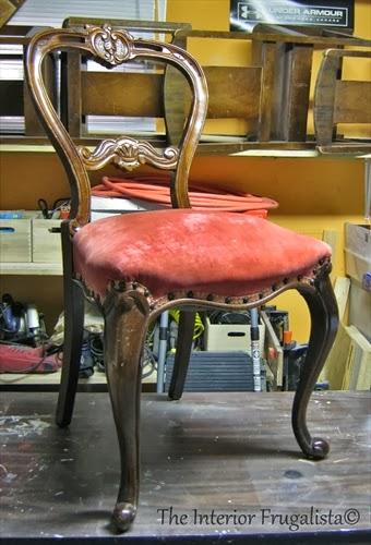 Antique Balloon Back Chair Before Makeover