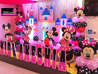 Elegant Mickey and Minnie Mouse Stage Decoration