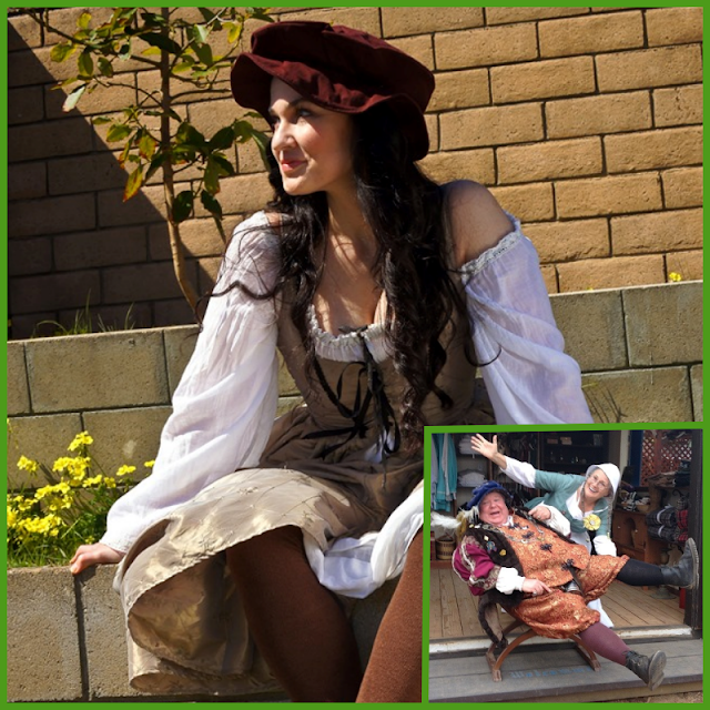 Vendor offering Renaissance clothing and costumes