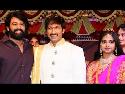 Prabhas in Gopichand And Reshma wedding