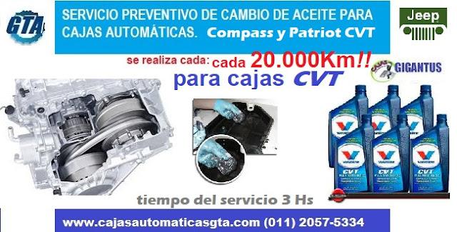 Servicio para caja automtica CVT de Jeep patriot y compass