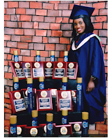 Meet Dr. Aarinola Olaiya Blessing, who broke O.A.U  28 years old   records  with 12 distinctions