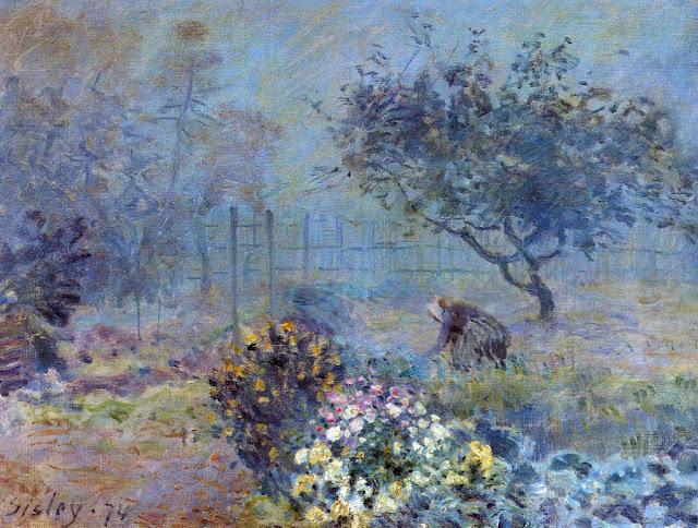 Alfred Sisley - Foggy Morning, Voisins