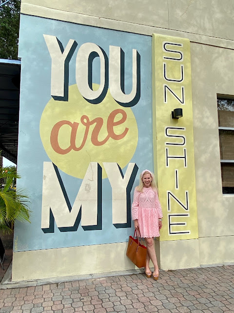 maryland influencer fashionafter40 you are my sunshine mural