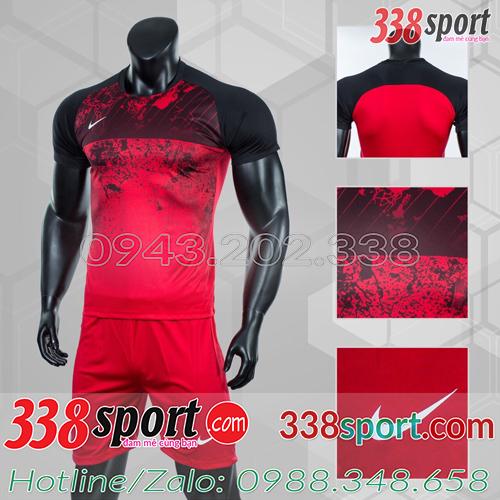 Mẫu Áo Bóng Đá Không Logo Đẹp Nike Roter Đỏ