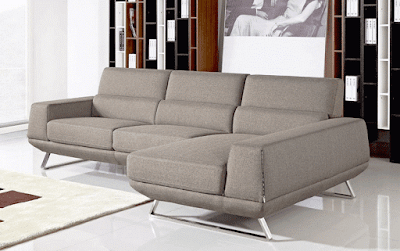 Becket Modern Fabric Sectional Sofa Furniture