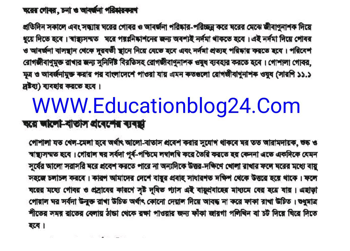 SSC / Dakhil (Vocational) Livestock Rearing and Farming Assignment Answer 2021 3