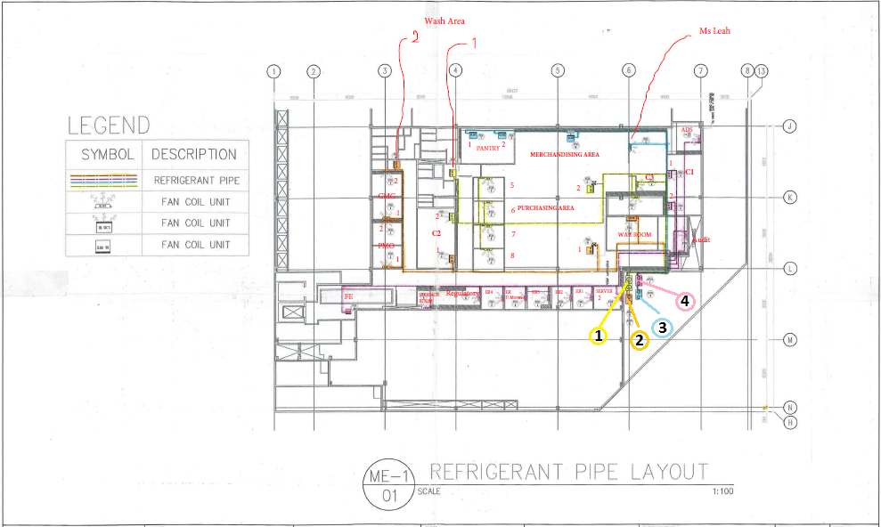 piping layout pictures pms records vrf type airconditioning system piping layout  vrf type airconditioning system piping