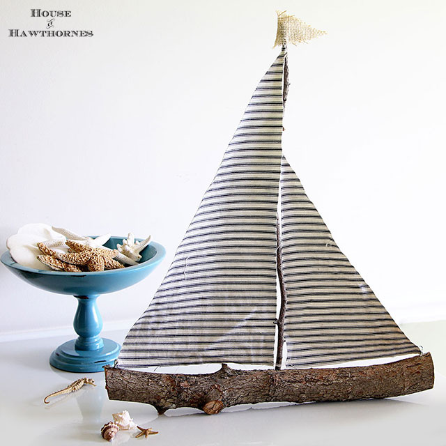 diy sailboat with ticking