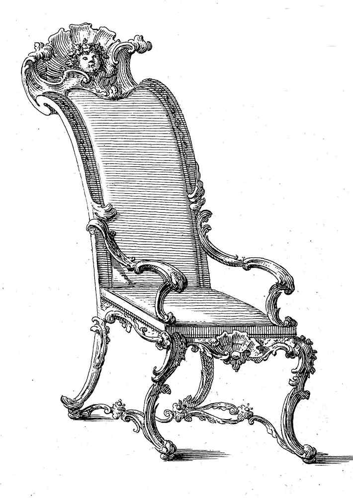 an odd ilustration of a 1736 chair