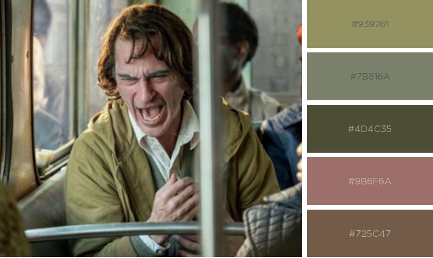 Paleta de cores do filme Coringa - Joker