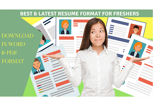 Best and Latest Resume Format For Freshers in MS Word Free to Download