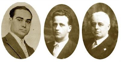 Los ajedrecistas Josep Vilardebó, Plàcid Soler y Valentín Marín