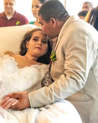 Paciente na luta contra o câncer realiza sonho e se casa na Santa Casa, Unidade Rodrigo Ramalho em Maceió/AL