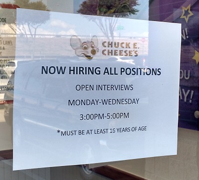 New Job Lead Chuck E Cheese Is Hiring Plano High School Jobs