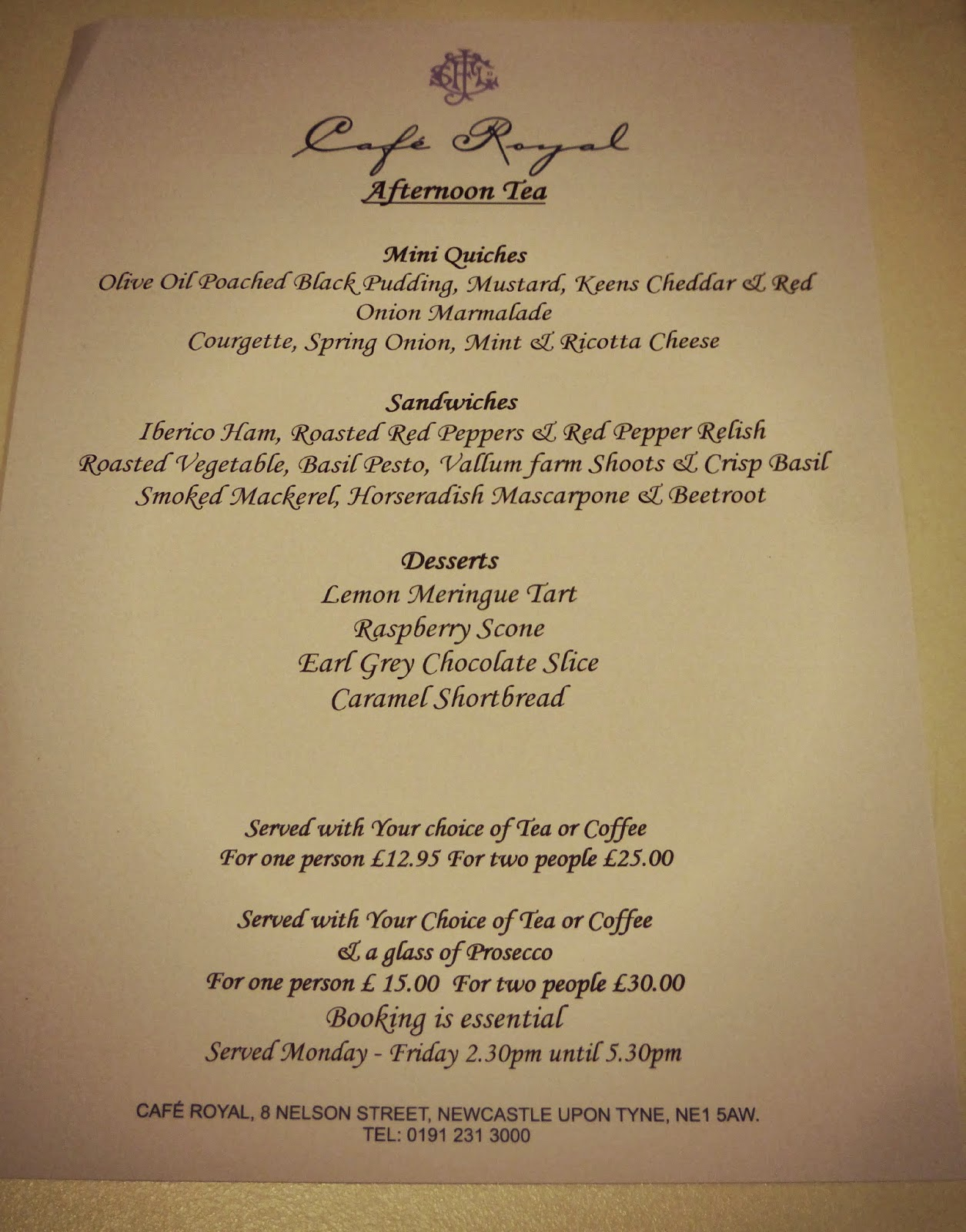 afternoon tea menu template - afternoon tea at cafe royal new girl in toon