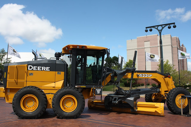 Construction vehicle at John Deere Pavilion