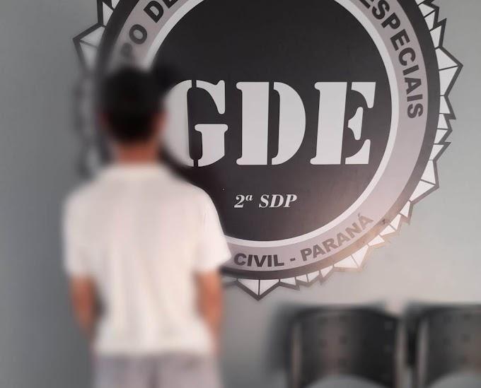 GDE prende indivíduo investigado por furtos em Laranjeiras do Sul