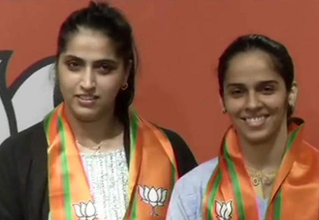 saina nehwal in bharatiya janata party,saina nehwal bjp,Saina Nehwal